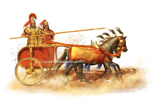 Mycenaean chariot speed testing(1500 Bc.)
