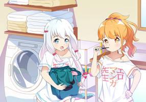 Sagiri and Megumi by hudiii48