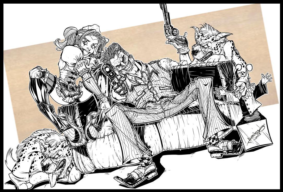 Joker and Harley Quinn by leoilustra