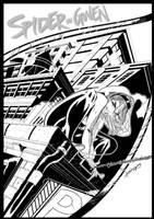 Spider Gwen Cover 2 by leoilustra