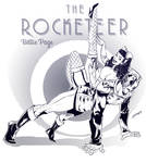 Rocketeer and Betty Page by leoilustra