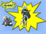 Aggron Gijinka Shinka Ferrismon!