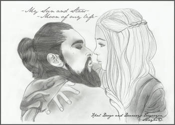 Khal Drogo and Daenerys by Skayler