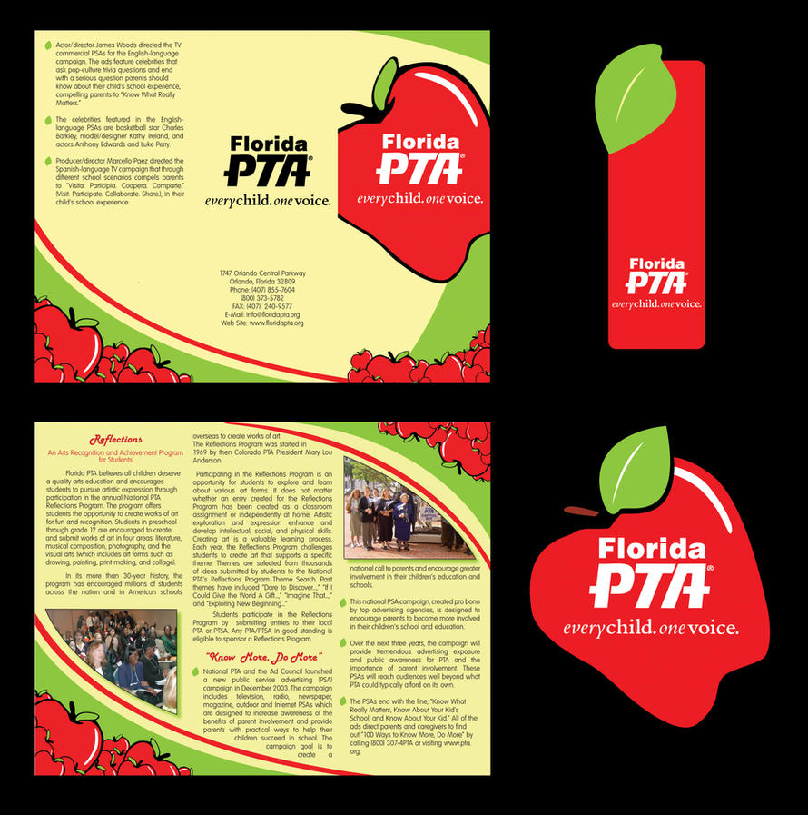 Florida pta brochure template by thenewrevolution on for Membership brochure template