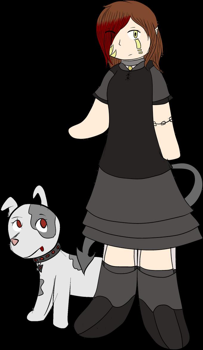 Nikki and Her Dog by ShadowedHeroine