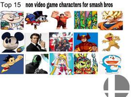 top 15 non video game characters for smash bros by saiyanpikachu