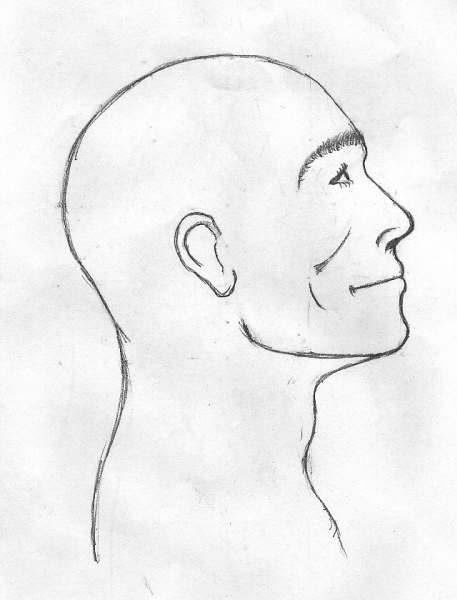 Line Drawing Face Profile : Simple profile by tabtab on deviantart