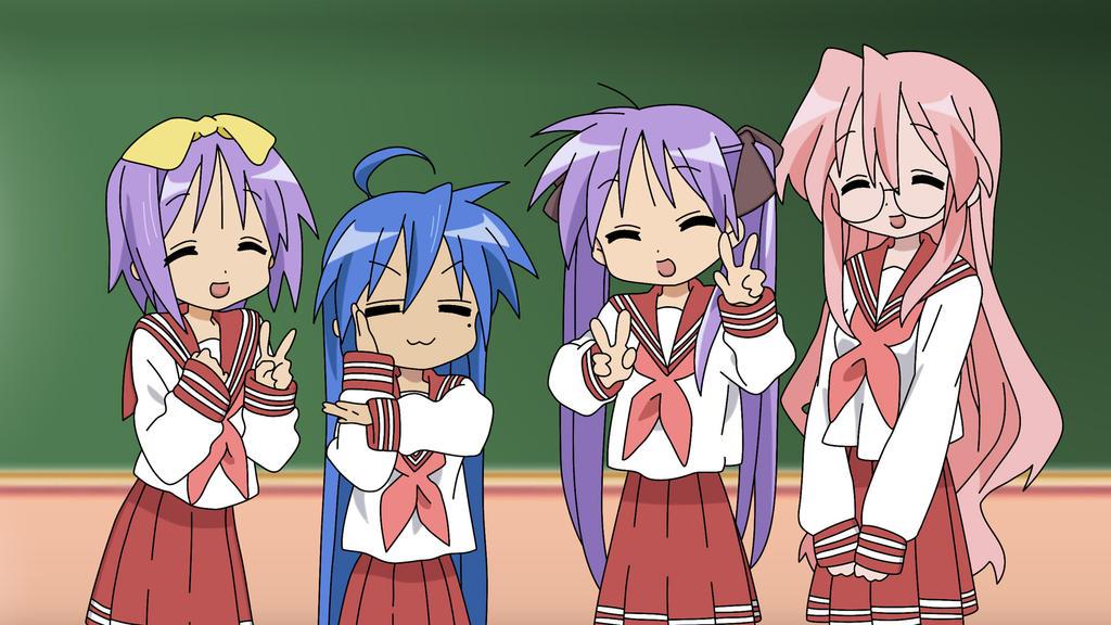 Lucky star, Konata, Kagami, Tsukasa and Miyuki. by ShaneRM ...