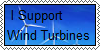 I Support Wind Turbines Stamp by bieber90pink