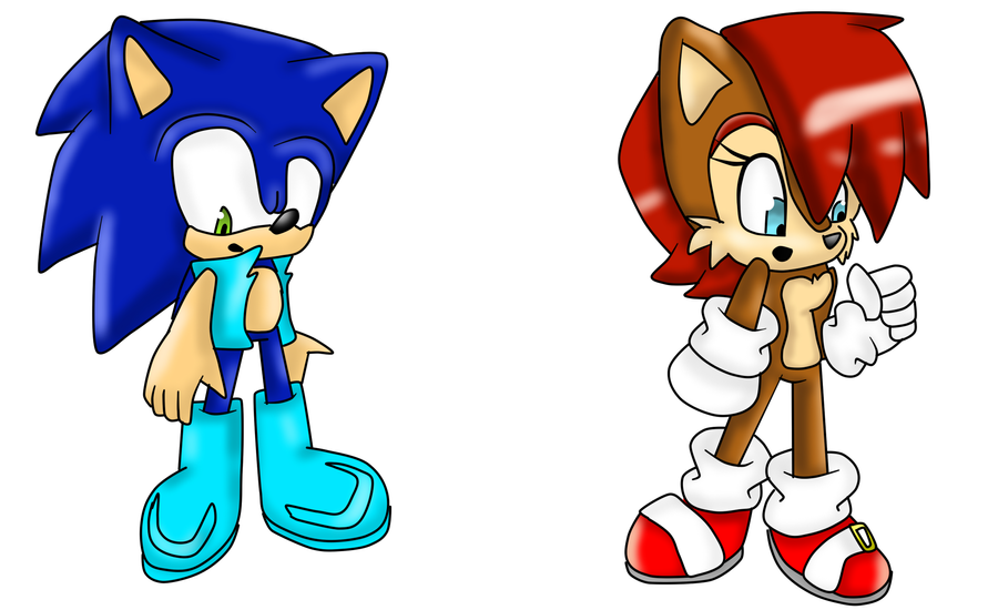 sonic and sally clothes swap by CheckeredMadness on DeviantArt