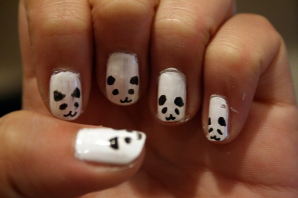 Panda nails by kawaiicute kitty on deviantart panda nails by kawaiicute kitty prinsesfo Images