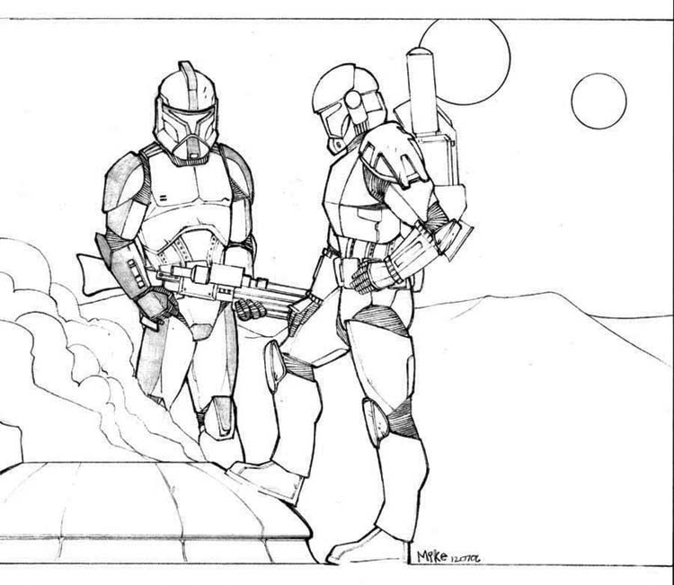 Clone Trooper Coloring Pages No comments have been added