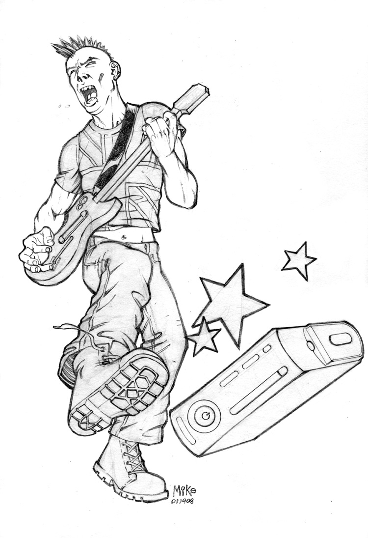 guitar hero printable coloring pages - photo#21