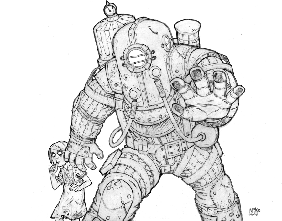 Big Daddy And Little Sister By Mikedimayuga On Deviantart