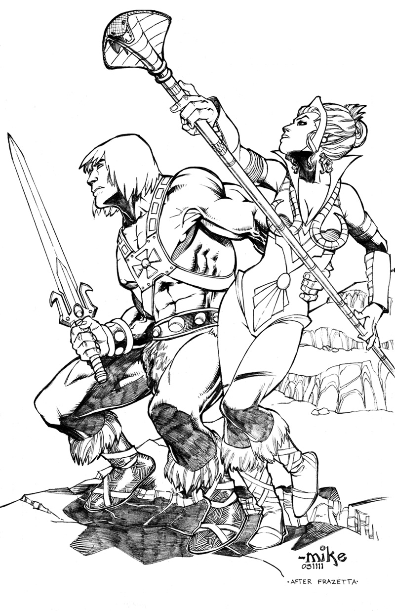 """1983 Masters of the Universe """"Character Coloring Book"""" Pages ... 