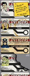 Awkward Avengers I.D. Cards by MikeDimayuga