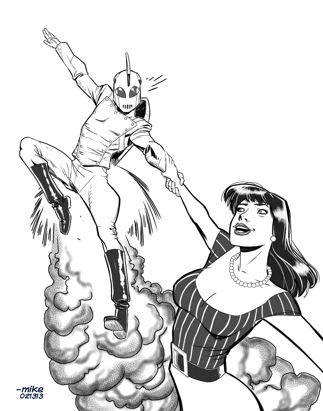 Rocketeer-BnW by MikeDimayuga