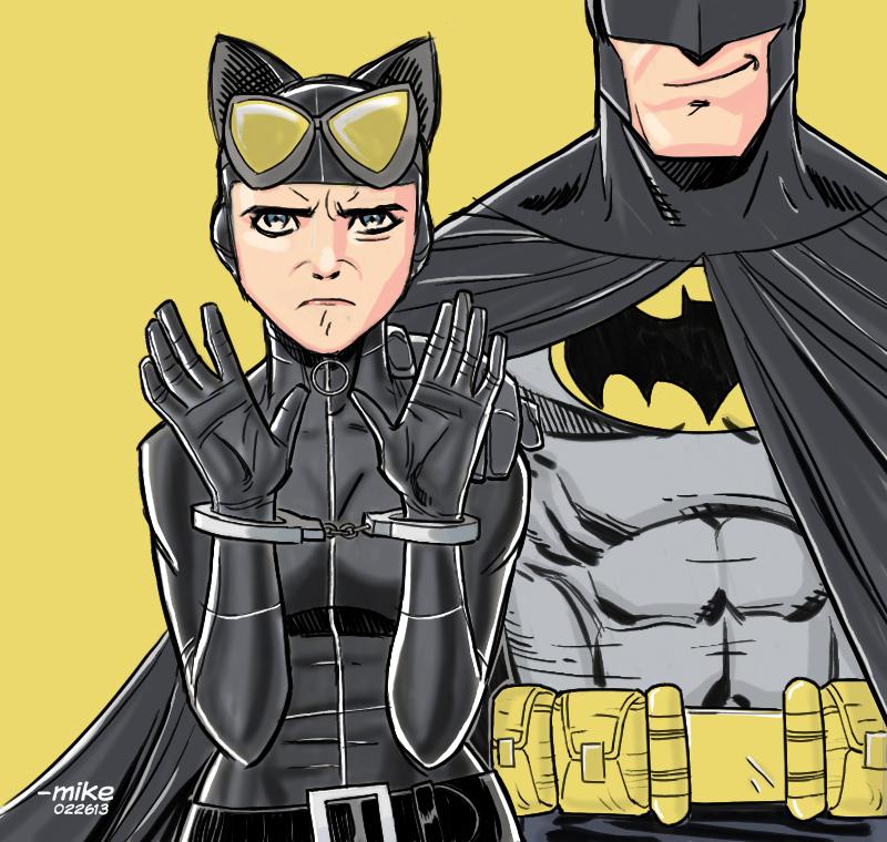 Grumpy CATwoman by MikeDimayuga