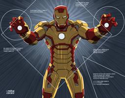 Iron Man- Mark 42 by MikeDimayuga