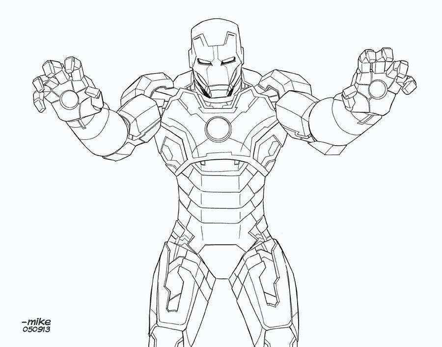 Iron Man 3 Coloring Pages Mark 42 Coloring Pages