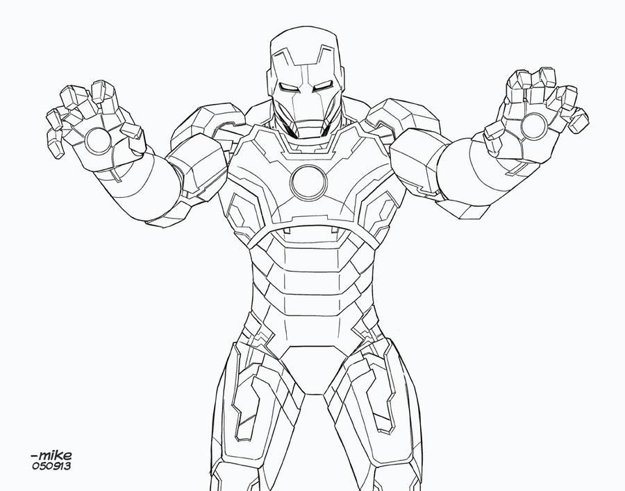 Iron Man Mark 42 BnW By MikeDimayuga On DeviantArt