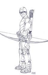 Hawkeye- BnW