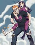Hawkguy and Kate by MikeDimayuga