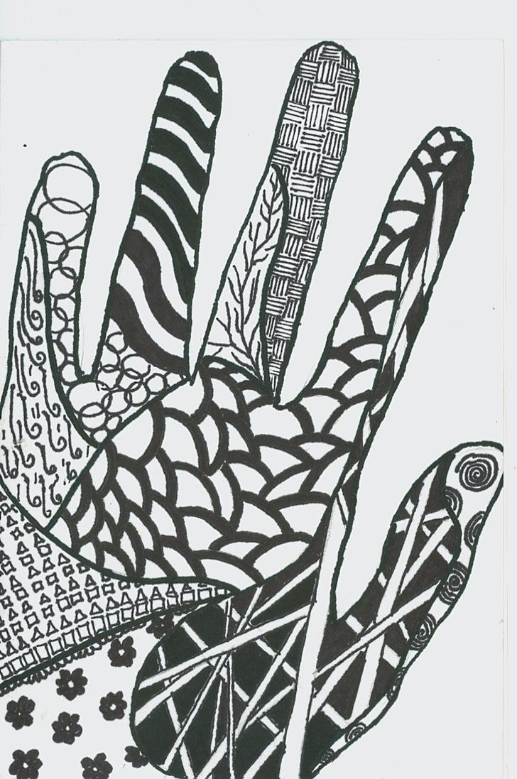 Zen - tangle hand by E...