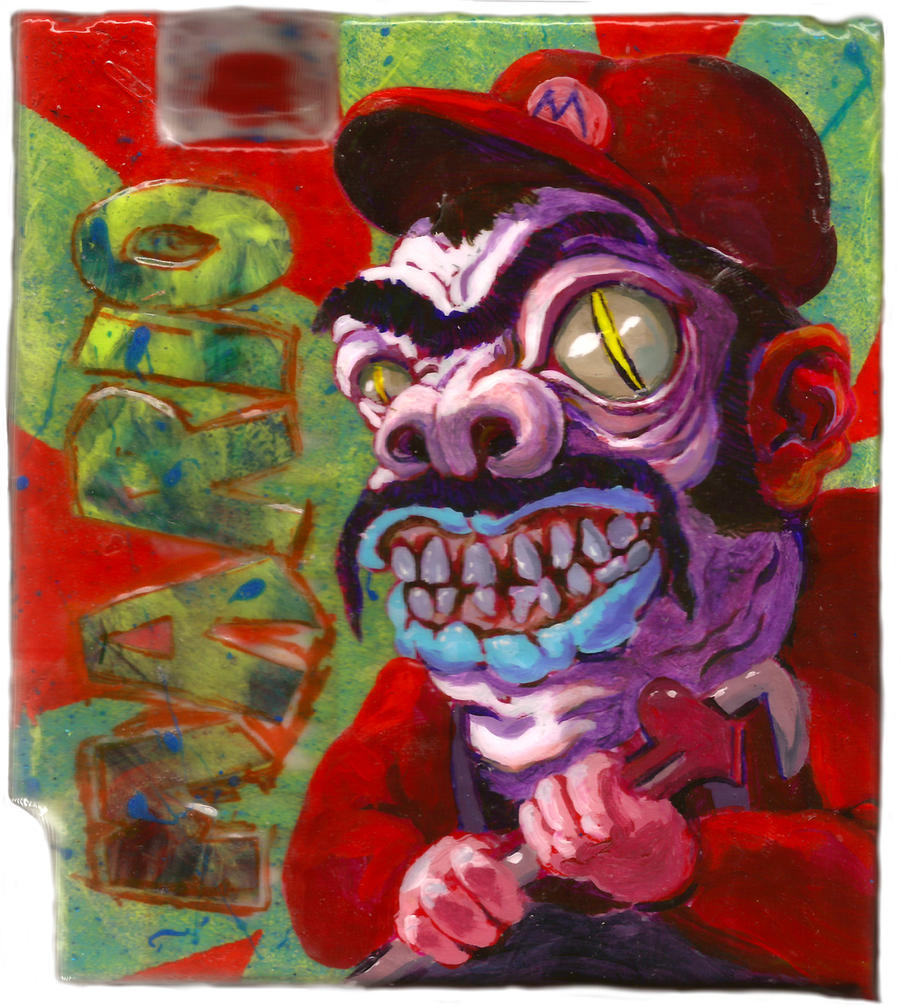 Mario Painting by poopbear