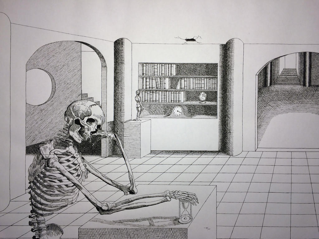 Death Contemplating Time