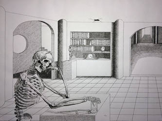 Death Contemplating Time by Fischer-Art