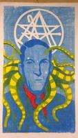 H.P. Lovecraft woodcut
