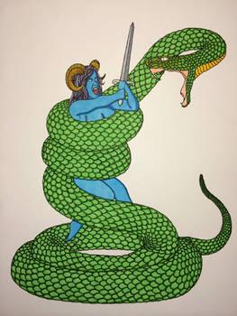 Copic Warrior VS Serpent