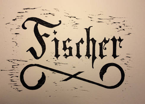 Fischer Woodcut