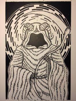 Woodcut Grim Reaper