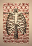 Rib Cage Flower of Life Woodcut