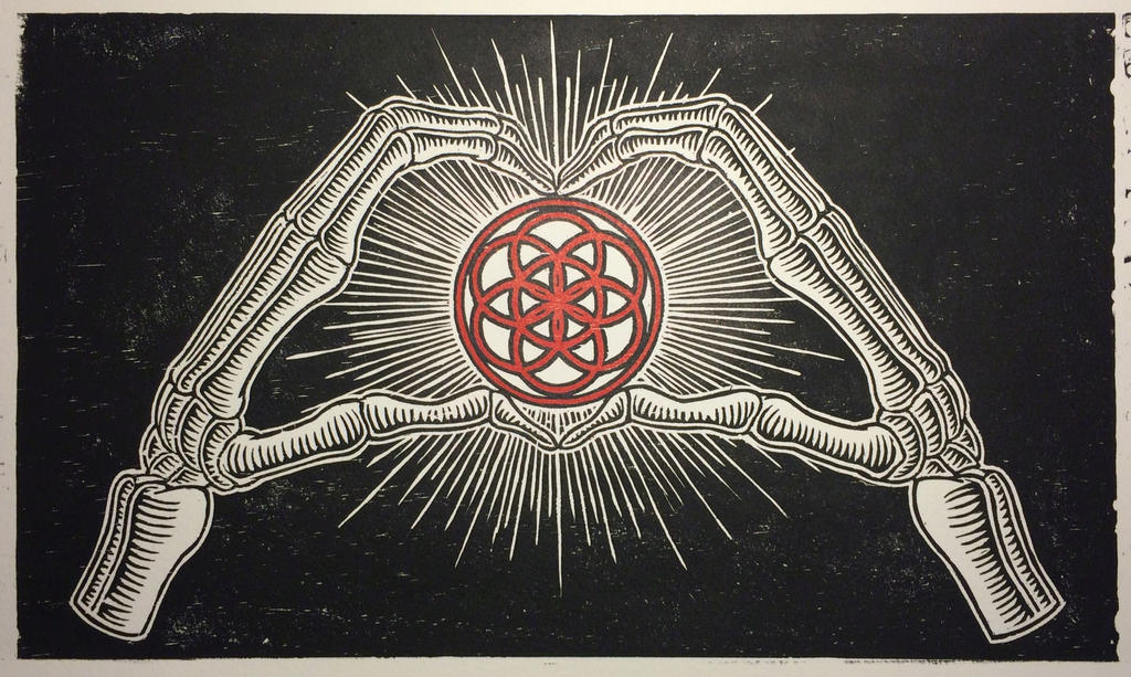 Love Life and Death relief print