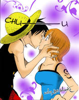 Luffy-Nami Collor by Blankachan