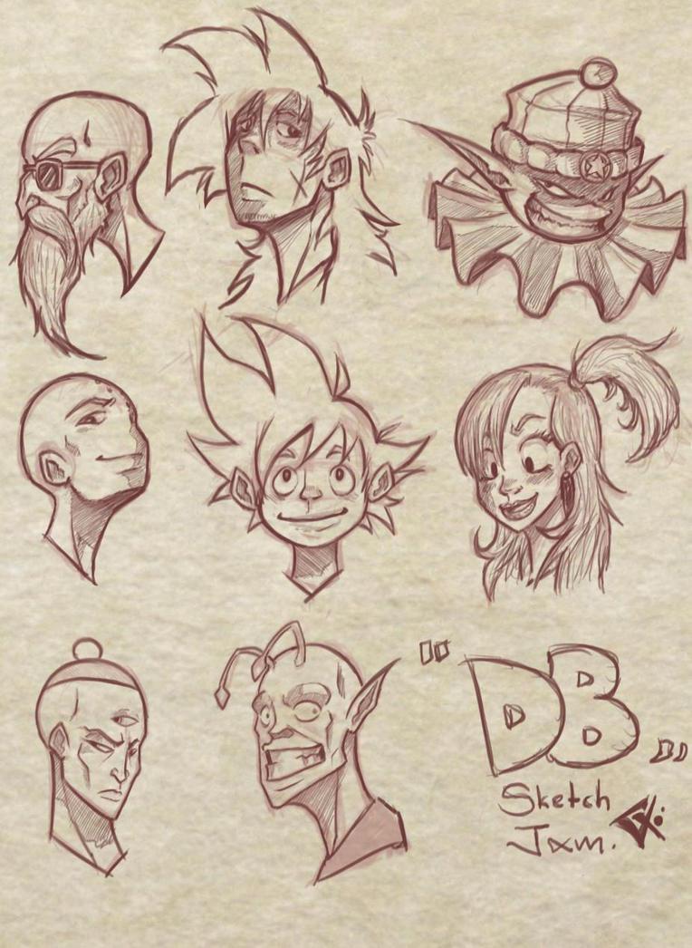 Headsketch Jam :DB by G-Chris