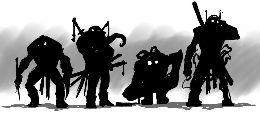 Lineup-Silhouettes by G-Chris