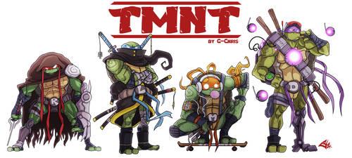 The Teenage Mutant Ninja Turtles by G-Chris