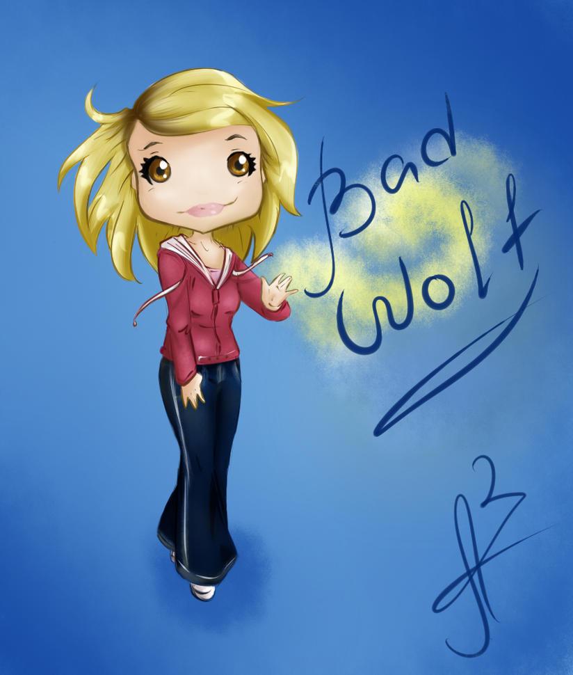 Bad Wolf chibi by Miss-Alex-Aphey