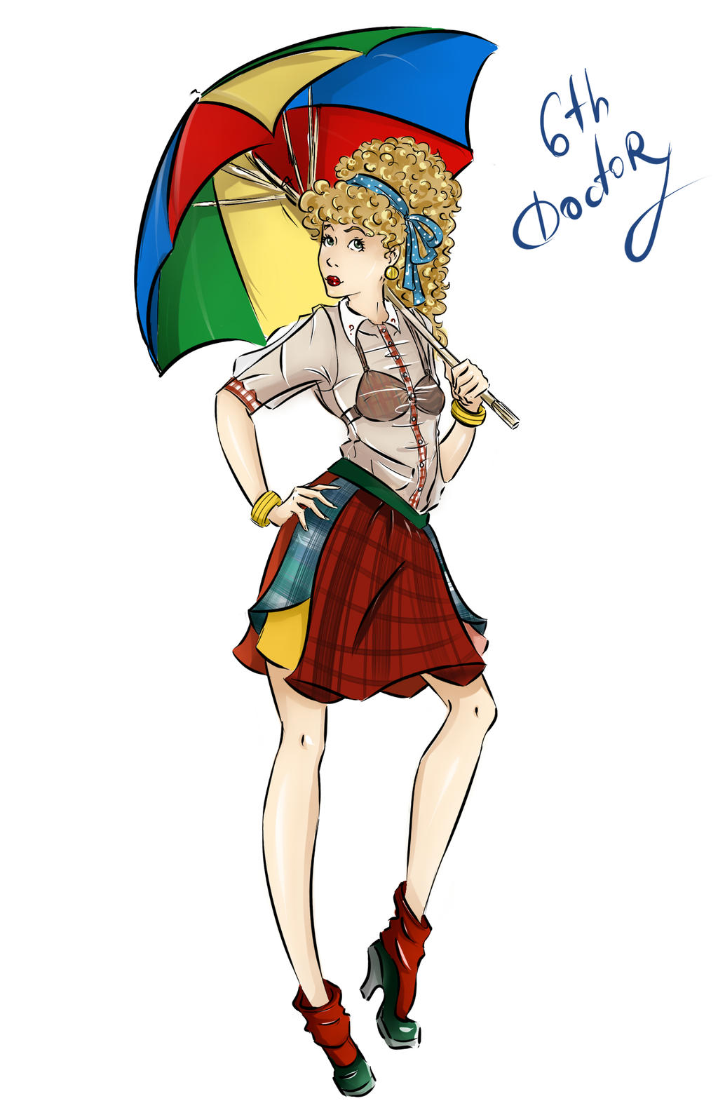 DW Fashion: The 6th Doctor #1 by Miss-Alex-Aphey
