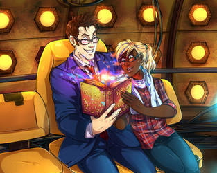 Reading with the Doctor by Miss-Alex-Aphey