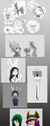 GmG: Third is the charm, sketch dump by Darkm00nShine