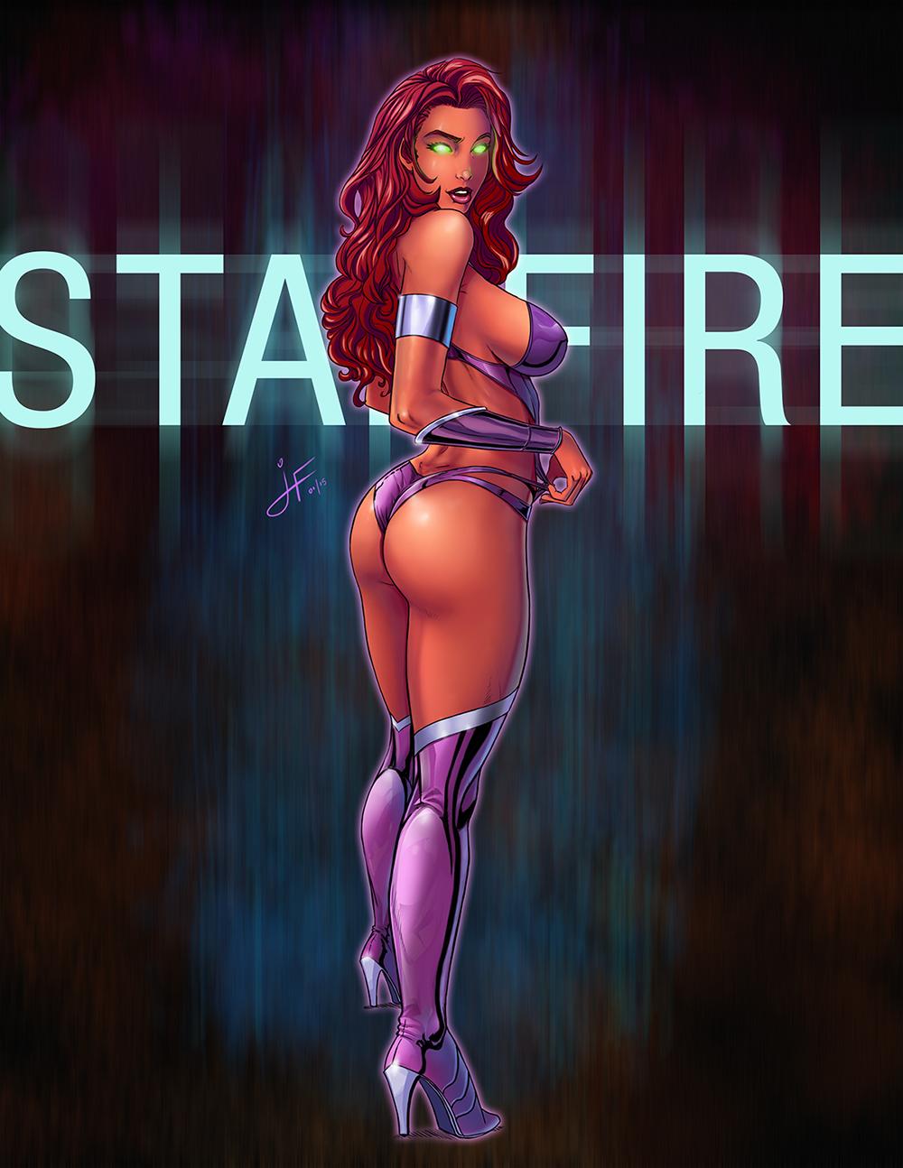 Starfire rubbing her vagina, celebrity pantyhose partii