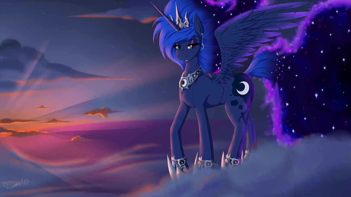 Bringing the night (Princess Luna) by Twotail813