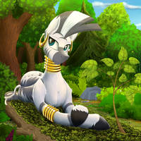 Zecora love sun. by Twotail813