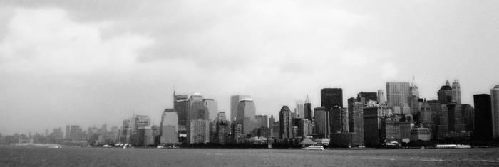 Manhattan Black and White by ScentOfCamomile