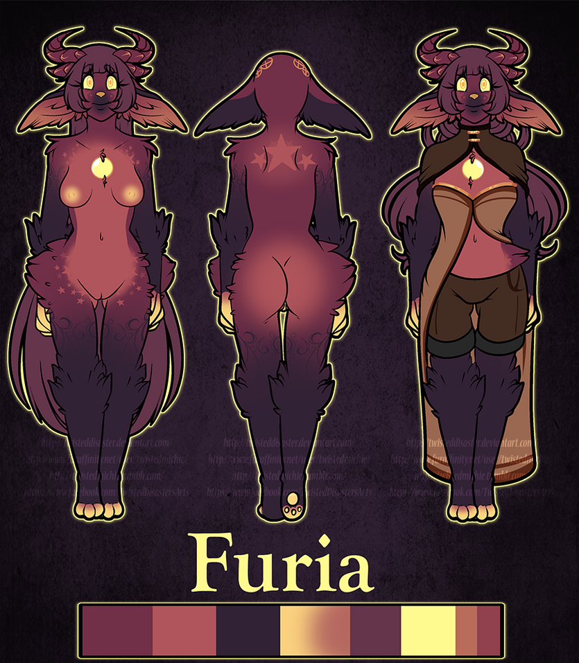 Furia Reference sheet :2015: by TwistedDisaster